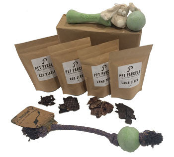 Premium Dog Toys and Treats Parcel