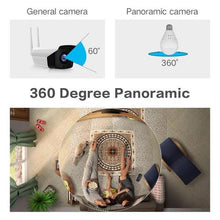 Load image into Gallery viewer, Bulb Light Wireless IP Camera FishEye Panoramic Mini Lamp IR CCTV Home Security Camera