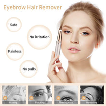 Load image into Gallery viewer, Electric Eyebrow Trimmer Finishing Touch Flawless Brows Hair Remover LED Light
