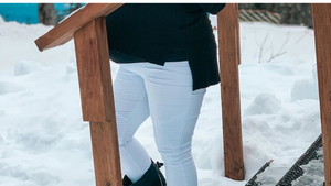 #BumpStyleApproved: Feel Cute, Stylish and Comfortable in White Maternity Leggings!