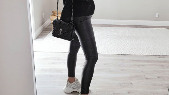 #BumpStyleApproved: You'll Love The Idea of Wearing These Leather Maternity Leggings