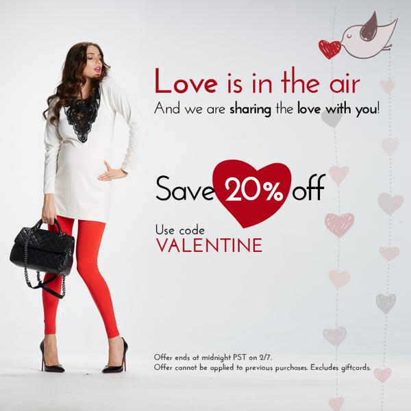 Spreading The Love With 20% Off This Valentine's Day