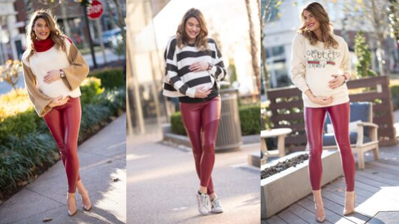 THE PERFECT MATERNITY LEGGINGS FOR VALENTINE'S DAY AND BEYOND!