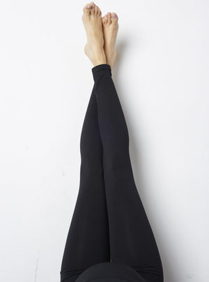 Overview Shot of Mom's Night Out Black Maternity Leggings