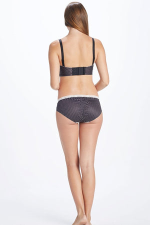 Back Shot of Coco Black and White Polka dot Maternity Panty
