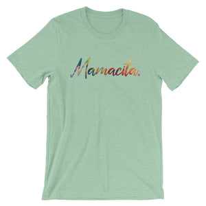 Mint Green Mamacita Multicolor Print T-Shirt