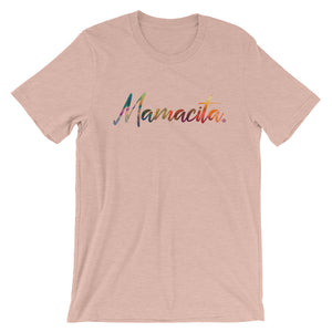 Peach Mamacita Multicolor Print T-Shirt