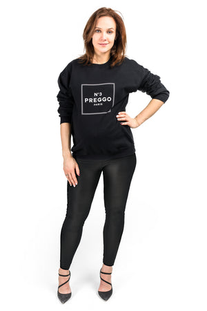 Black No3 Preggo Parody Maternity Sweatshirt