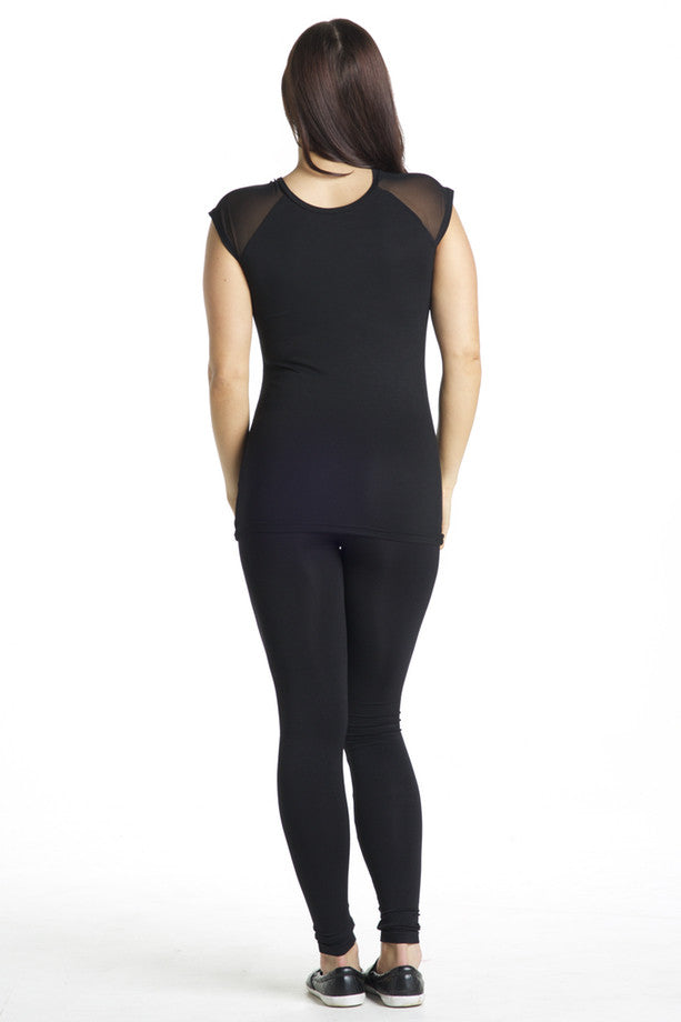 Preggo Is The New Black™ Mesh Tee - Black