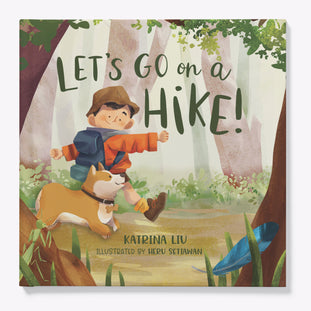 Let's go on a hike! English children's book by Katrina Liu