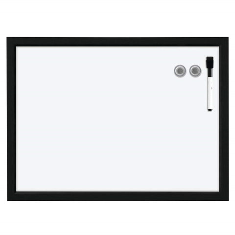 Provizon Magnetic Dry Erase Board, Black Synthetic Wood Frame