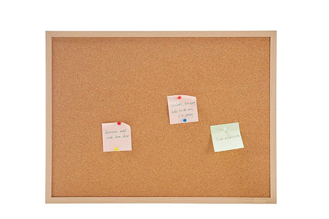 Provizon® Cork Notice Board with Synthetic Wood Finish Frame