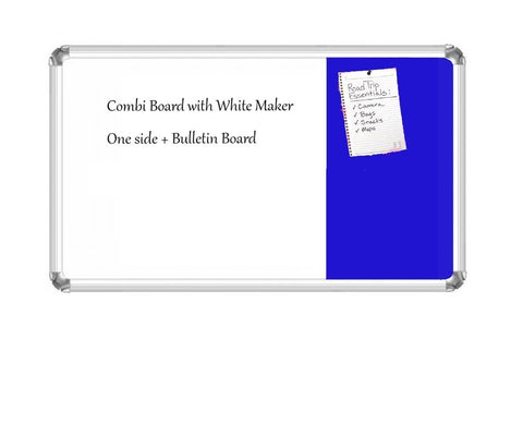 Combination board, Bulletin boards and White Magnetic Ultima series Aluminium frame