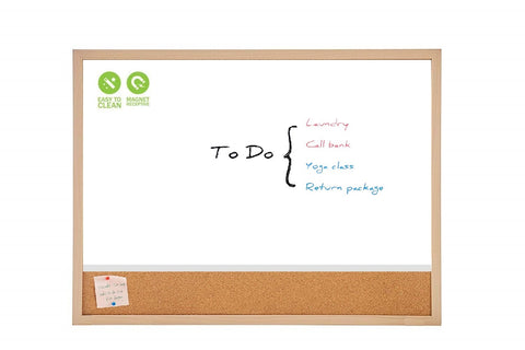 Magnetic Combination board with Wooden Frame White Board & Cork Bulletin Board, ideal for Office, School Board
