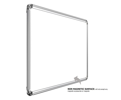 White Board Ultima series Melamine (Non-Magnetic) Whiteboard WBNMUF Heavy-Duty Aluminium Frame
