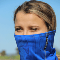 Summer scarf face cover face mask royal blue  powpow