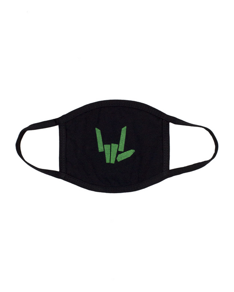 'Share The Love' Youth Face Mask - Youth - Black