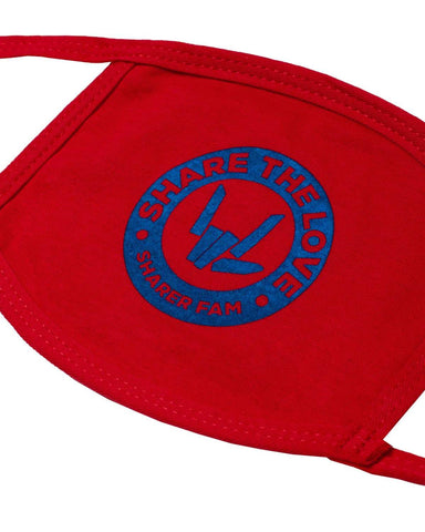 'Sharer Crest' Youth Face Mask - Red