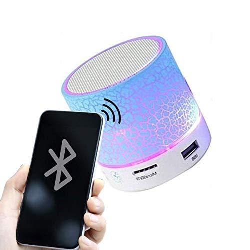 Mini Bluetooth Speaker with Disco Lights Works with All Devices