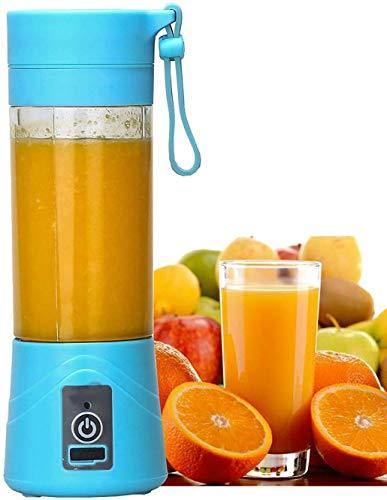 Portable USB JUICER Blender 380ml Bottle with Rechargeable Power Bank, USB Cable
