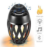 Stereo Home Audio with Deep Bass Rechargeable Portable Flame LED Light Lantern Bluetooth Speaker
