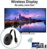 YADU ENTERPRISES WiFi Wireless Display Dongle 1080P Mini Receiver Sharing HD Video from Projectors/Cell Phones/Tablet/PC Support (Black)