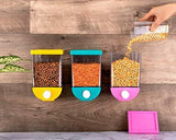 Push Button Wall Mount Container, Save Space on Kitchen Counter, Table, Drawer, Desk, Cupboard,Kitchen Storage containers Air Tight, Transparent, Wall Mount Multicolour Container