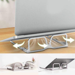 Creative Design Glasses Laptop/Mobile/Tablet Stand Foldable Adjustable Holder Stand | Non-Slip| Cooling Bracket