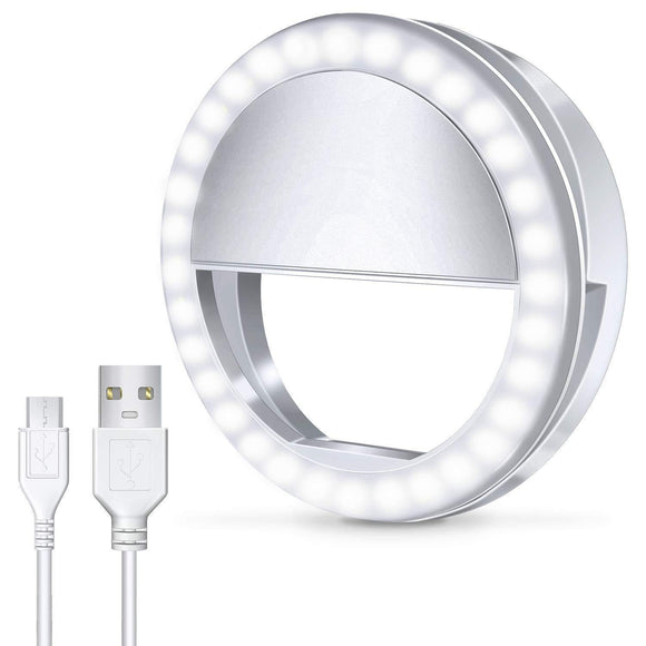 Selfie Ring Light with 36 LED Bulbs, Flash Lamp Clip Ring Lights Fill-in Lighting