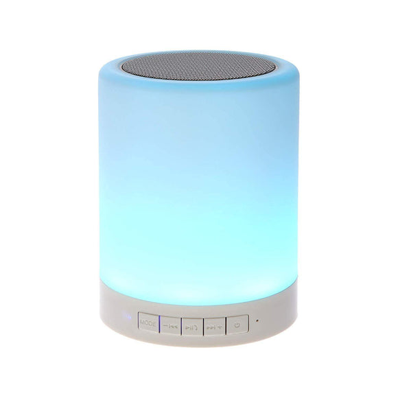 Wireless Portable Bluetooth Speaker with Smart Touch LED Mood Lamp, Pen Drive, SD Card, AUX and Mic
