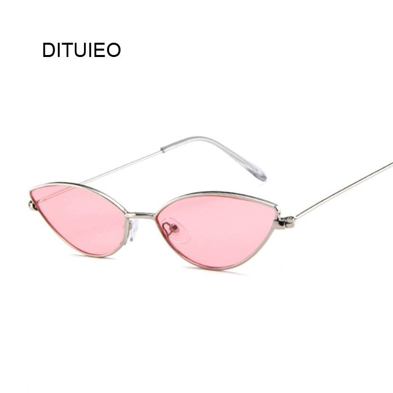 Retro Pink Cat Eye Sunglasses