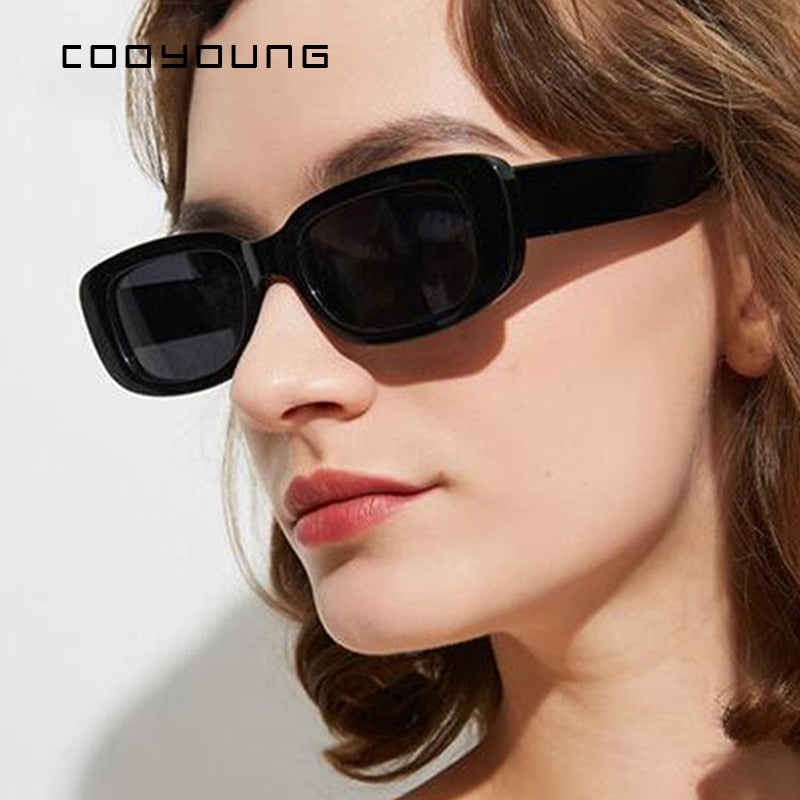 COOYOUNG Small Rectangle Sunglasses