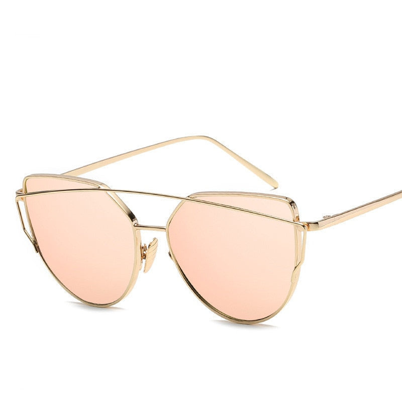 Gold Vintage Cat Eye Sunglasses