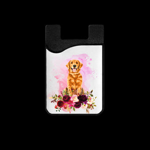 Golden Retriever Phone Card Holder