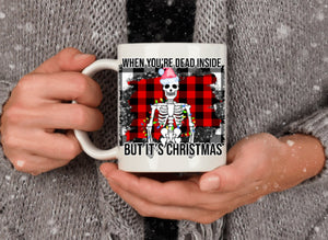 Dead Inside Christmas mug, coffee mug, Christmas gift