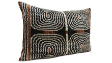 Load image into Gallery viewer, AFRICAN DESIGN- IKAT SILK/VELVET PILLOW