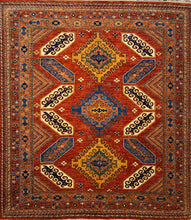 Load image into Gallery viewer, 8 x 8.1 Ft Handmade Turkısh Wool Vıntage Carpet Turkish Rug