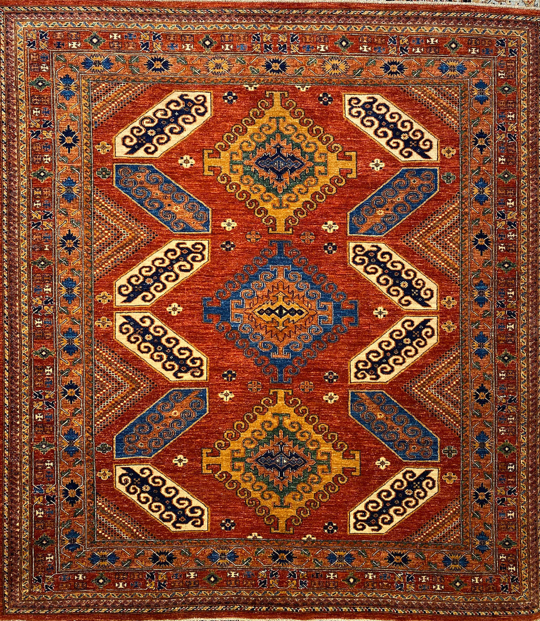 8 x 8.1 Ft Handmade Turkısh Wool Vıntage Carpet Turkish Rug