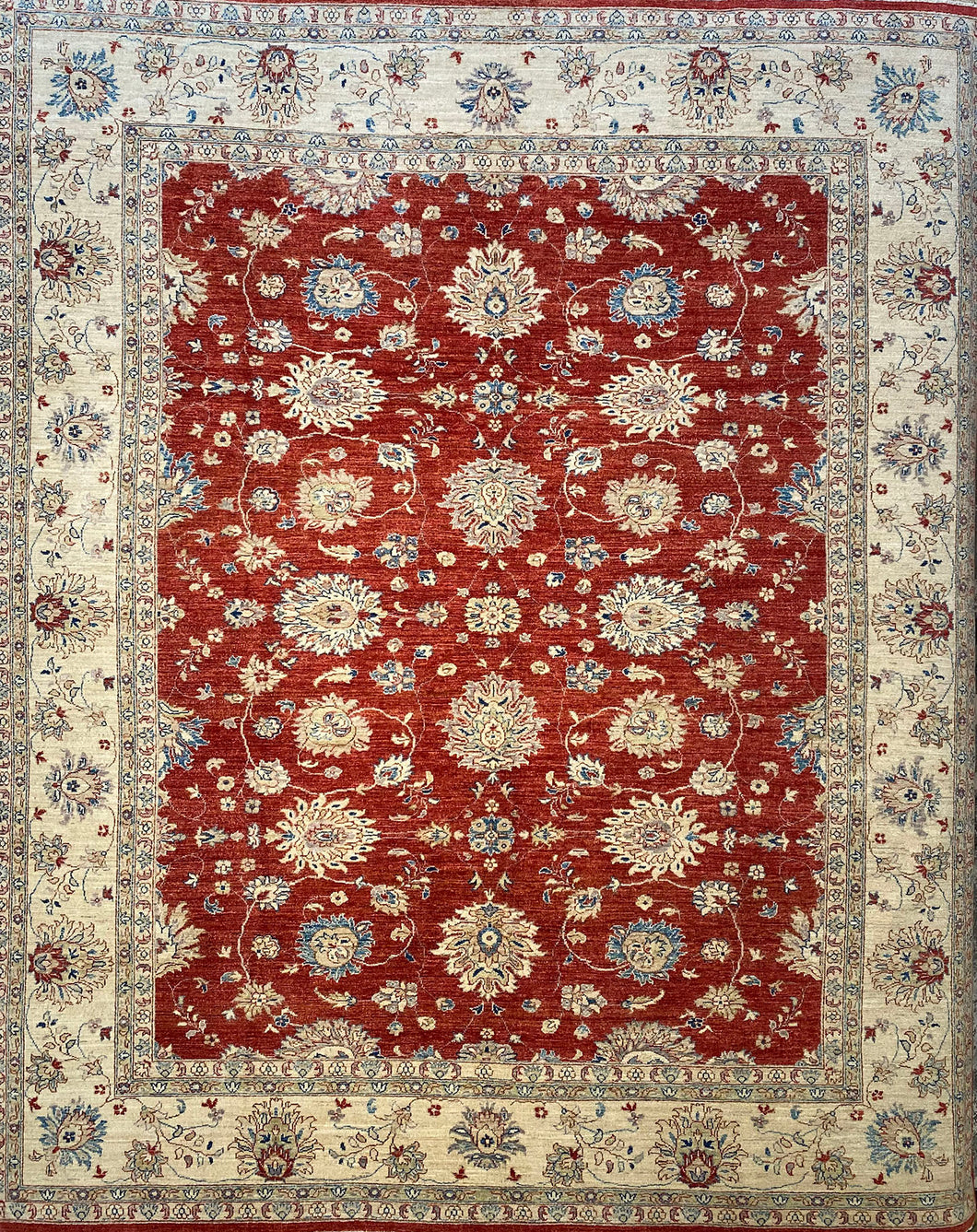8.1 x 9.1 Ft Handmade Turkısh Wool Vıntage Carpet Turkish Rug