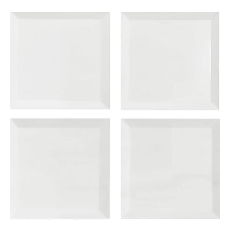 4x4 Bianco Dolomite Marble Wide Bevel Subway Tile Polished