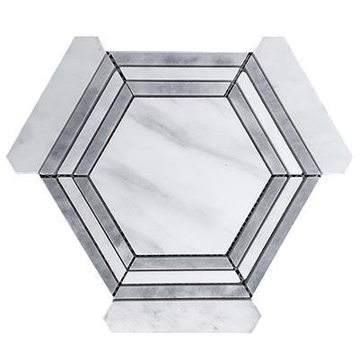 Whitwe Carrara Marble Hexagon 6