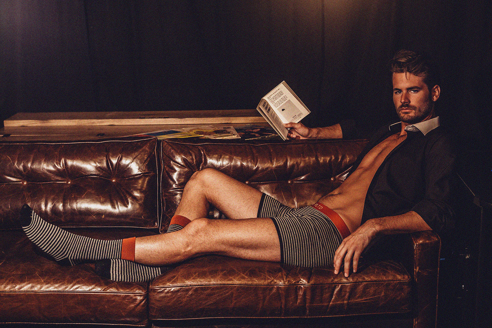 """When Reading A Book"" - Men's Fashion: Dress For The Occasion (Related Garments)"