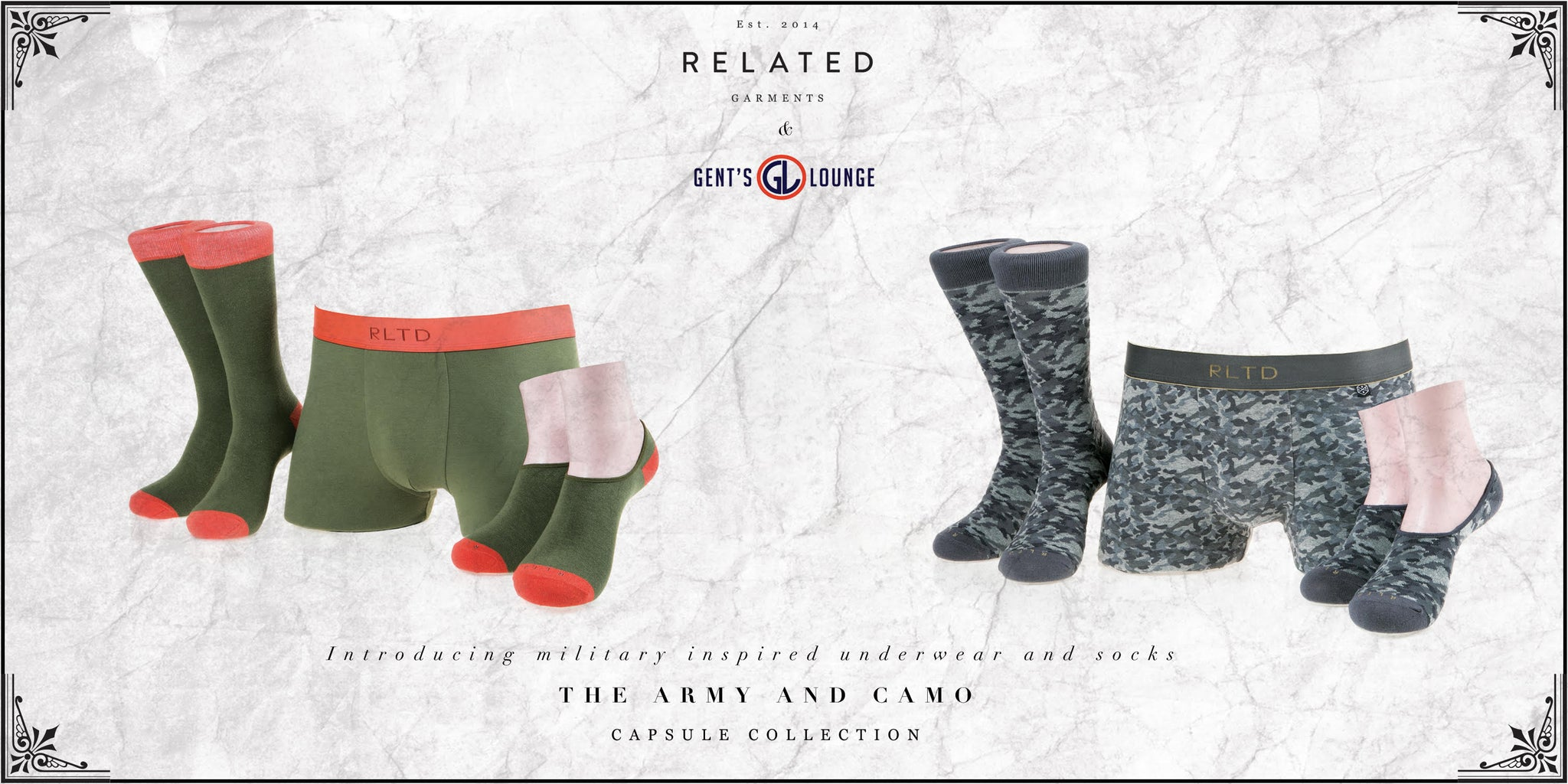 Gents Lounge X Related Garments Limited Edition Underwear and Socks