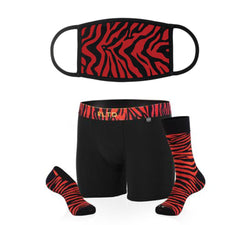 Zebra Mask & Underwear/Sock Bundle - Related Garments