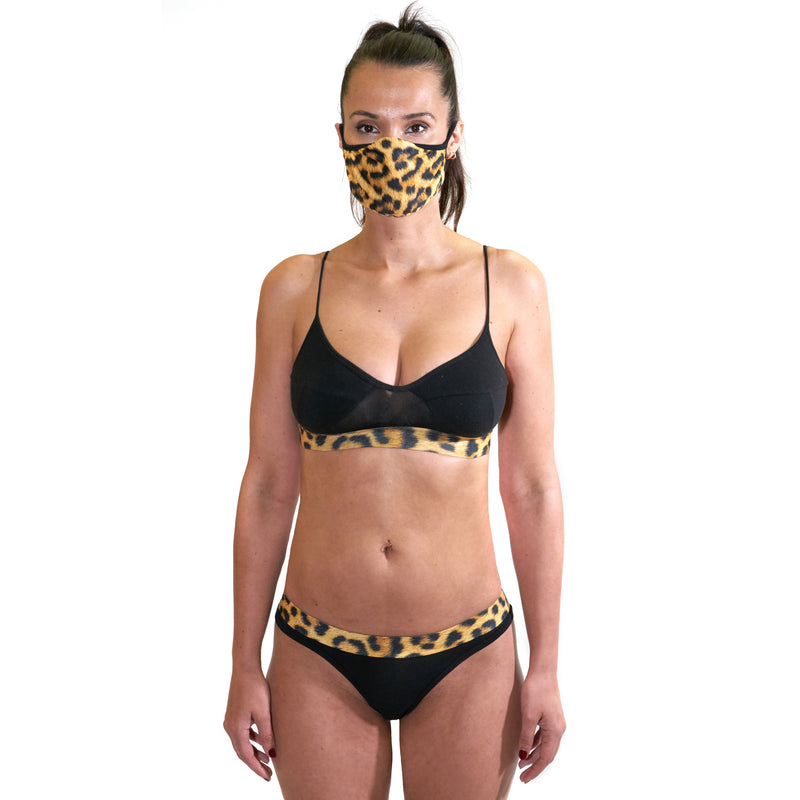 Leopard Face Mask - Related Garments