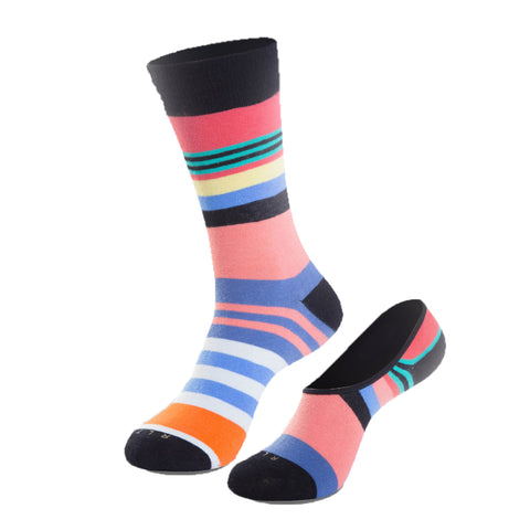 The Flying Cross Crew Sock + No Show Sock Set