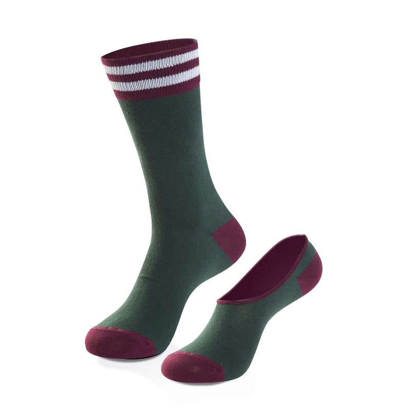 The Ivy Women's Crew + No-Show Sock Set - Related Garments