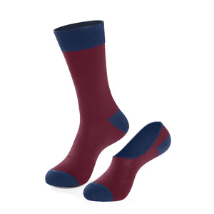 Socks - Maroon Crew Sock + No-Show Sock Set