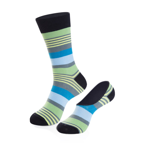 Socks - Royal Crew Sock + No-Show Sock Set