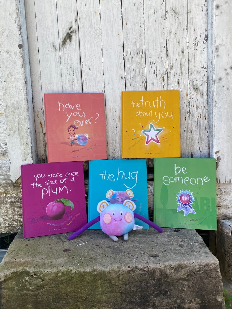 Wonderful Me Collection of Books. The Hug. You Were Once the size of a plum. The truth about you. Be someone. Have You Ever? For emotional wellbeing and mental wellbeing for children.